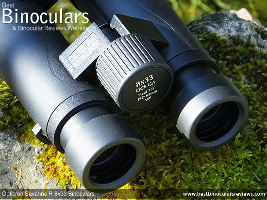 Focus Wheel on the Opticron Savanna R 8x33 Binoculars