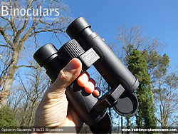 Size of the Opticron Savanna R 8x33 Binoculars