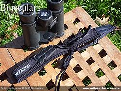 Neck strap on the Opticron Savanna R 8x33 Binoculars
