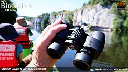 Holding the Opticron Savanna WP 6x30 Binoculars