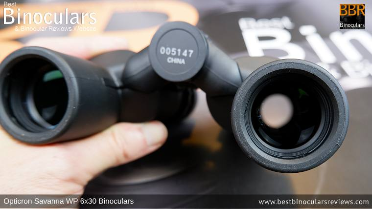 Objective Lenses on the Opticron Savanna WP 6x30 Binoculars