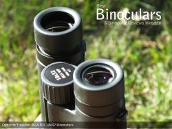 Eyecups on the Opticron Traveller BGA ED 10x32 Binoculars