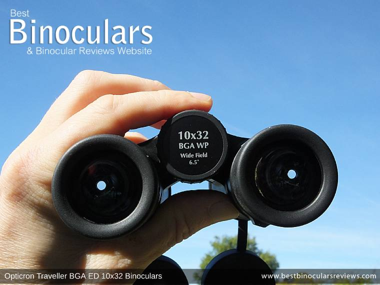 Focus Wheel on the Opticron Traveller BGA ED 10x32 Binoculars