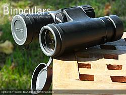 Lens Covers on the Opticron Traveller BGA ED 10x32 Binoculars