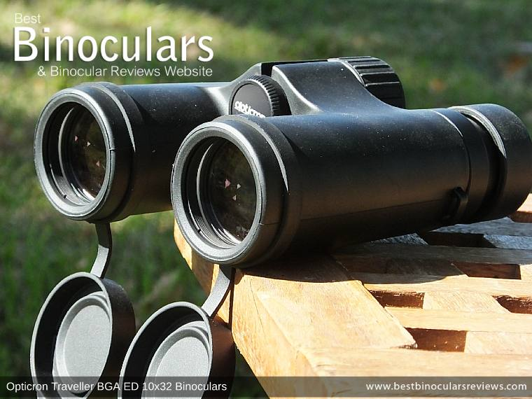 Objective Lenses on the Opticron Traveller BGA ED 10x32 Binoculars
