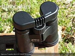 Rain Guard on the Opticron Traveller BGA ED 10x32 Binoculars