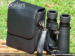 Rear view of the Carry Case & Opticron Verano BGA HD 8x42 Binoculars
