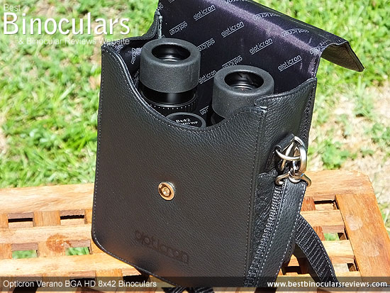 Inside the Opticron Verano BGA HD 8x42 Binoculars Carry Case