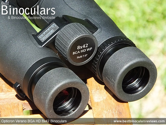Focus Wheel on the Opticron Verano BGA HD 8x42 Binoculars
