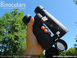 Open bridge design on the Opticron Verano BGA HD 8x42 Binoculars