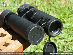 Objective Lens Covers on the Opticron Verano BGA HD 8x42 Binoculars