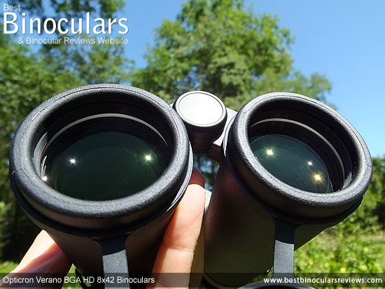 42mm Objective Lenses on the Opticron Verano BGA HD 8x42 Binoculars