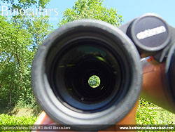 Reverse view through the Opticron Verano BGA HD 8x42 Binoculars