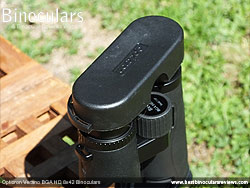 Rain Guard on the Opticron Verano BGA HD 8x42 Binoculars