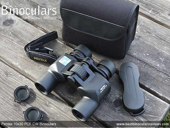 Pentax 10x30 PCF CW Binoculars with accessories