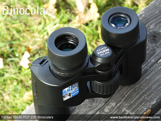 Eyecups on the Pentax 10x30 PCF CW Binoculars
