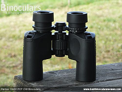 Underside view of the Pentax 10x30 PCF CW Binoculars