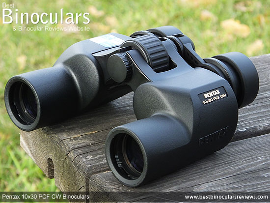 Rear view of the Pentax 10x30 PCF CW Binoculars