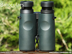 Rear of the Pentax 8x43 DCF ED Binoculars