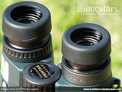 Eyecups on the Pentax 8x43 DCF ED Binoculars