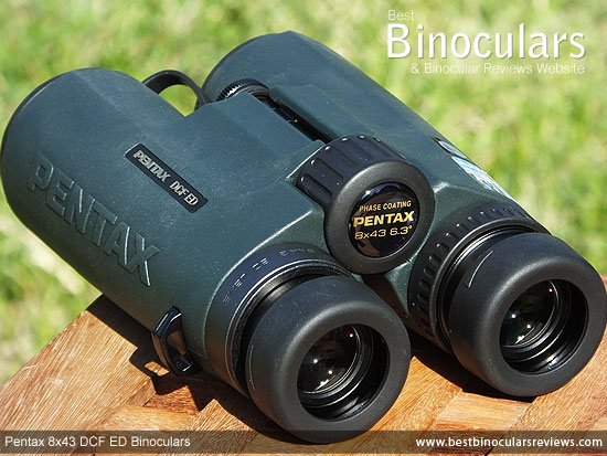 Focus Wheel on the Pentax 8x43 DCF ED Binoculars