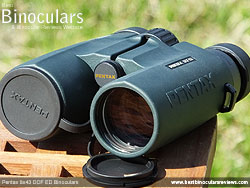 Lens Covers on the Pentax 8x43 DCF ED Binoculars