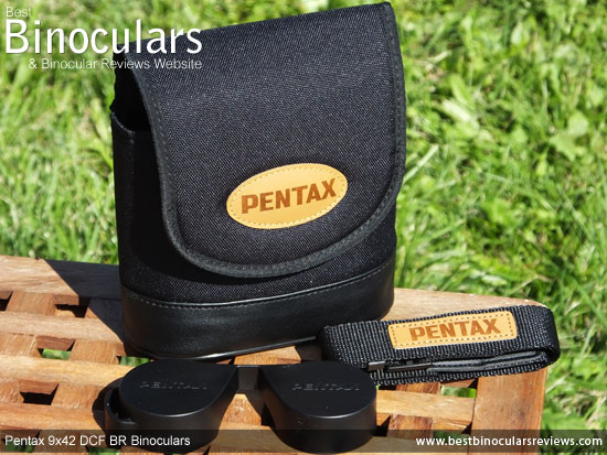 Carry Case, Neck Strap and Rain Guard for the Pentax 9x42 DCF BR Binoculars