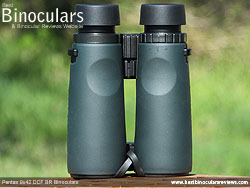 Rear of the Pentax 9x42 DCF BR Binoculars