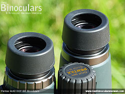 Eyecups on the Pentax 9x42 DCF BR Binoculars