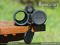 Lens Covers on the Pentax 9x42 DCF BR Binoculars