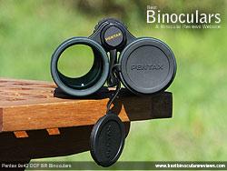 Lens Covers on the Pentax 9x42 DCF BR Binoculars