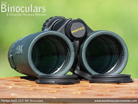 42mm Objective lenses on the Pentax 9x42 DCF BR Binoculars
