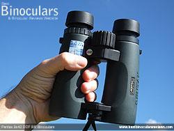 Open Bridge Design of the Pentax 9x42 DCF BR Binoculars