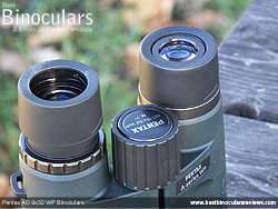 Eyecups on the Pentax AD 9x32 WP Binoculars