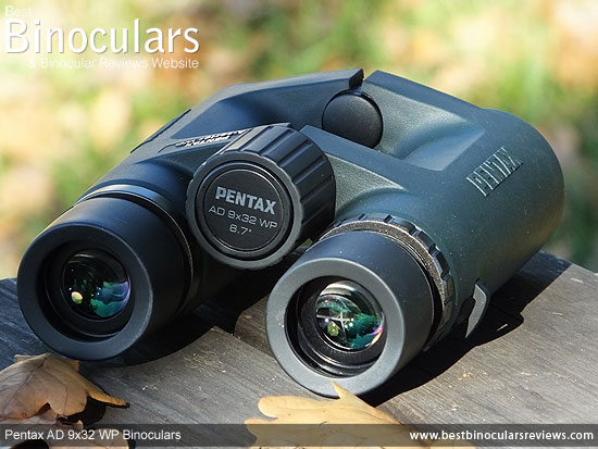 Focus Wheel on the Pentax AD 9x32 WP Binoculars