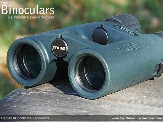 Objective Lenses on the Pentax AD 9x32 WP Binoculars