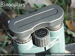 Rain Guard on the Pentax AD 9x32 WP Binoculars