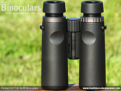 Rear of the Pentax DCF NV 8x36 Binoculars