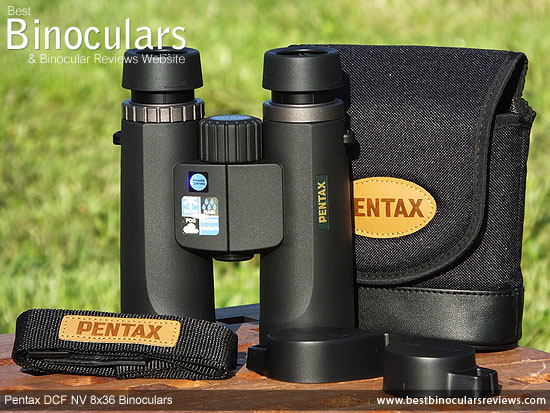 Pentax DCF NV 8x36 Binoculars with neck strap, carry case and rain-guard