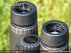Eyecups on the Pentax DCF NV 8x36 Binoculars