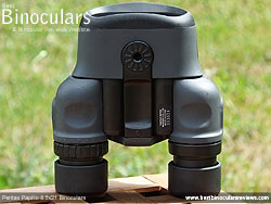 Underside of the Pentax Papilio 8.5x21 Binoculars