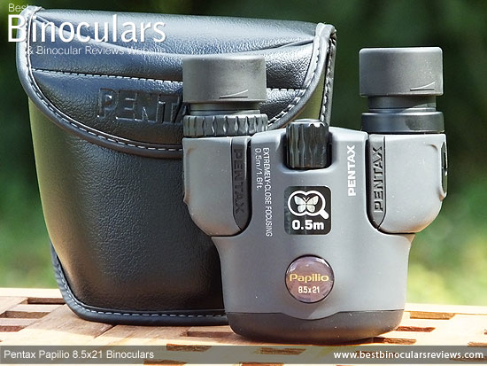 Carry Case & the Pentax Papilio 8.5x21 Binoculars