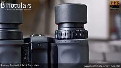 Diopter on Pentax Papilio II 8.5x21 Binoculars