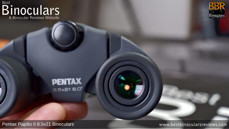 2.47mm Exit Pupils on the Pentax Papilio II 8.5x21 Binoculars