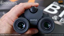 IPD set to minimum on the the Pentax Papilio II 8.5x21 Binoculars