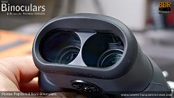 Convergent objective lenses on the the Pentax Papilio II 8.5x21 Binoculars