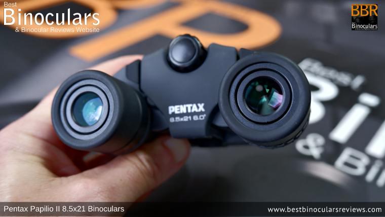 Ocular Lenses on the Pentax Papilio II Binoculars