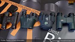 Compact Binocular Size Comparison (open): Steiner Wildlife 10x26 vs Vortex Vanquish 10x26 vs Pentax Papilio II 8.5x21 vs Kowa BD 8x25 Binoculars