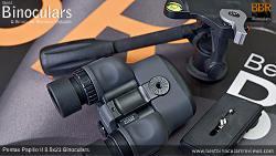 Tripod mount on the underside of the Pentax Papilio II 8.5x21 Binoculars