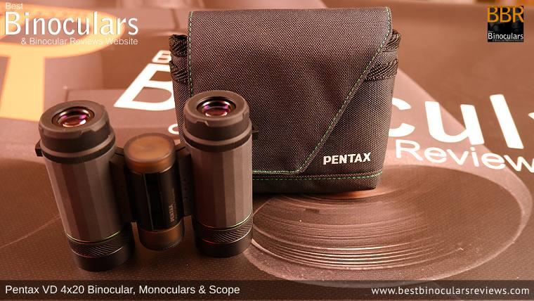 Pentax VD 4x20 Binoculars, Monocular & Spotting Scope Carry Case